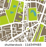 abstract vector city map with... | Shutterstock .eps vector #116549485
