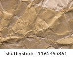 wrinkled brown paper abstract...   Shutterstock . vector #1165495861
