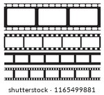 set of old retro vntage film... | Shutterstock .eps vector #1165499881