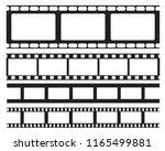set of old retro vntage film... | Shutterstock .eps vector #1165499881