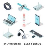 electronic devices. isometric... | Shutterstock .eps vector #1165510501