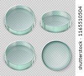 empty glass petri dish. biology ... | Shutterstock .eps vector #1165510504