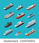 passenger and cargo ships ... | Shutterstock .eps vector #1165510531