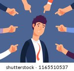bullying at work concept. adult ... | Shutterstock .eps vector #1165510537