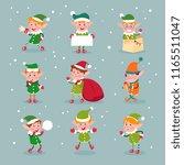 Elf. Cartoon Santa Claus...