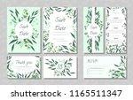 eucalyptus design. wedding... | Shutterstock .eps vector #1165511347