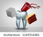 effects of sugar on teeth as an ... | Shutterstock . vector #1165516381
