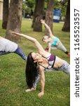 healthy flexible sportswomen...   Shutterstock . vector #1165523557