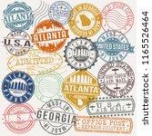 atlanta georgia stamp vector... | Shutterstock .eps vector #1165526464