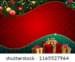 christmas background with... | Shutterstock .eps vector #1165527964
