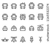 public transport vector outline ... | Shutterstock .eps vector #1165532374