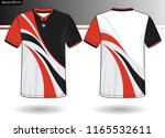 sports jersey template for team ... | Shutterstock .eps vector #1165532611