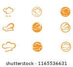 hat chef  logo and symbol...   Shutterstock .eps vector #1165536631
