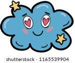 the cute prsonage cloud falling ... | Shutterstock .eps vector #1165539904