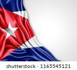 cuba flag of silk with... | Shutterstock . vector #1165545121