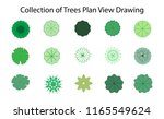collection of trees plan view... | Shutterstock .eps vector #1165549624