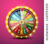 wheel of fortune with jackpot... | Shutterstock .eps vector #1165551424