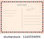 postcard template paper white... | Shutterstock .eps vector #1165554094