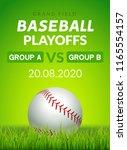 baseball flyer poster design...   Shutterstock .eps vector #1165554157