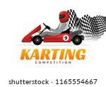 kart driver sport logo icon.... | Shutterstock .eps vector #1165554667