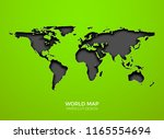 world vector map template...   Shutterstock .eps vector #1165554694