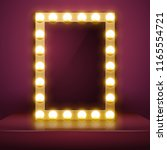 make up mirror with light.... | Shutterstock .eps vector #1165554721