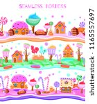 fairy tale candy land with... | Shutterstock .eps vector #1165557697