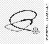 medical stethoscope mockup.... | Shutterstock . vector #1165562374