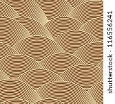 pattern   golden wave line | Shutterstock . vector #116556241