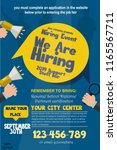 we are hiring poster or banner... | Shutterstock .eps vector #1165567711