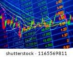 stock market graph chart. the...   Shutterstock . vector #1165569811