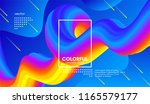 abstract wave 3d background... | Shutterstock .eps vector #1165579177