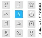 vector illustration of 12... | Shutterstock .eps vector #1165589374