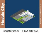 isometric city 3d airport... | Shutterstock . vector #1165589461