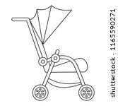 buggy icon. outline buggy icon...   Shutterstock . vector #1165590271