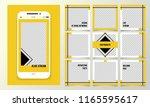 editable template for the... | Shutterstock .eps vector #1165595617