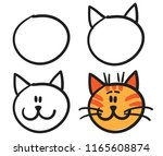 teach your child how to draw... | Shutterstock .eps vector #1165608874