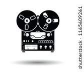 reel tape recorder icon. white... | Shutterstock .eps vector #1165609261