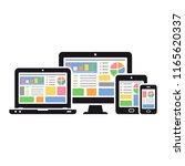 responsive web design. laptop ... | Shutterstock . vector #1165620337