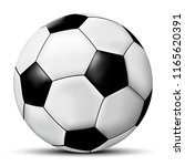 football or soccer ball... | Shutterstock . vector #1165620391