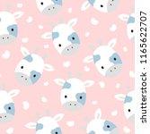 giraffe cute seamless pattern... | Shutterstock .eps vector #1165622707
