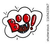 boo funny pin or sticker design....   Shutterstock .eps vector #1165623367