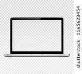 laptop computer illustration | Shutterstock . vector #1165623454