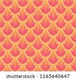 vector floral damask seamless... | Shutterstock .eps vector #1165640647