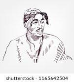 tupac shakur vector sketch... | Shutterstock .eps vector #1165642504