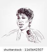 aretha franklin vector sketch... | Shutterstock .eps vector #1165642507