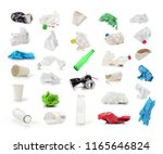 collection of trash isolated on ... | Shutterstock . vector #1165646824