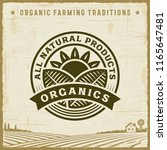 vintage all natural products... | Shutterstock . vector #1165647481