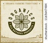 vintage organics all natural... | Shutterstock . vector #1165647484