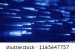 blue hexadecimal symbols... | Shutterstock . vector #1165647757